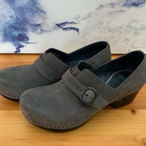 Dansko Tamara Gray Leather Clogs - Size 36